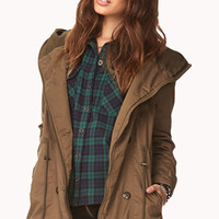 Snow Bunny Hooded Utility Jacket
