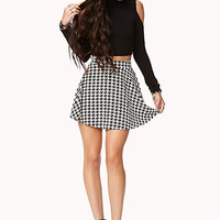 Retro Houndstooth Skater Skirt