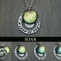 "Soar ""I'm A Leaf In The Wind"" Color Shifting Antique Silver Necklace"