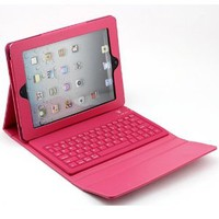 Booklet Synthetic Leather Case Cover with Stand Mount + Wireless Bluetooth Keyboard iPad 4th Generation / iPad 3 / iPad 2 / iPad Mini-Multi Color Options