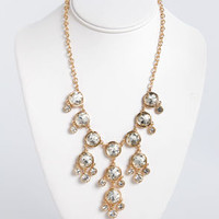 Beaming Brilliance Gold Rhinestone Necklace