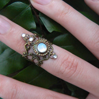 knuckle ring armor ring SALE 14.50 nail ring claw ring nail tip ring finger tip ring vampire goth victorian moon goddess pagan boho gypsy