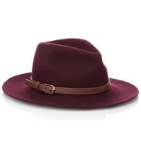 Kate Belted Fedora | Red | Accessorize