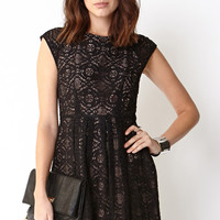 Darling Lace Fit & Flare Dress
