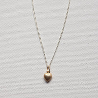 Small Heart Necklace, Gold Heart Necklace, Tiny Heart Necklace, Dainty Necklace, Minimalistic Necklace