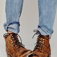 Free People Womens Skyfall Lace Up Boot -