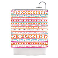 KESS InHouse Native Bandana Polyester Shower Curtain