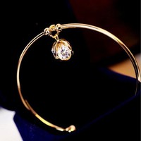 Shiny Diamond Ball Bangle