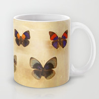 Vintage Sepia Butterfly Display Mug by Brooke Ryan Photography