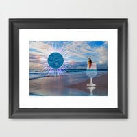 BEACH FANTA-SEA Framed Art Print by catspaws