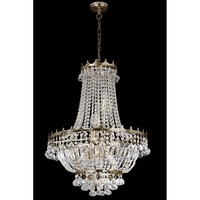 Searchlight Lighting Versailles 9 Light Chandelier in Gold Finish with Crystal Decoration - Searchlight Lighting from Castlegate Lights UK