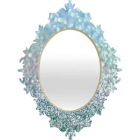 Lisa Argyropoulos Blue Mist Snowfall Baroque Mirror - SALE