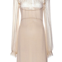 Crepe De Chine Diana Dress With Tulle And Lace Details by Vilshenko for Preorder on Moda Operandi