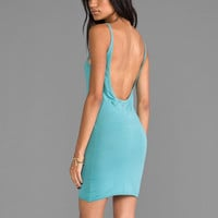 Daftbird Low Back Dress in Ocean