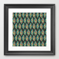 Glass Leaves Framed Art Print by Pom Graphic Design