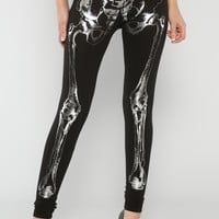 Skeleton Print Leggings