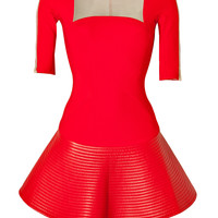 David Koma - Dress in Red/Beige