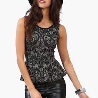 Chandelier Peplum Top