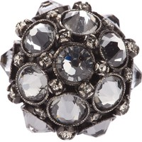 LANVIN crown crystal ring