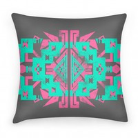 Aztec Pillow Charcoal Grey