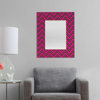 Caroline Okun Chocolate Chevron Rectangular Mirror