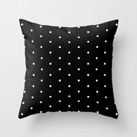 007 in Dots Throw Pillow by Rebecca Allen