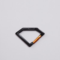 Flatspot - Diamond Carabiner Rock Key chain Black / Gold