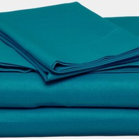 Dark Turquoise Twin XL Sheet Set Extra Long Blue Bedding
