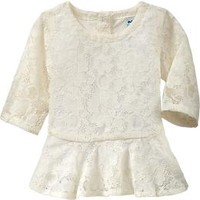Lacey Peplum Tops for Baby