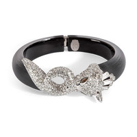 Alexis Bittar - Winter Deco Medium Pave Jewelled Wolf Biting Tail Bracelet