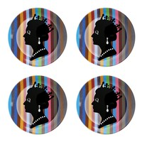 British Queen Dessert Plates, Set of 4