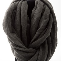 Endless Options Roll Up Infinity Scarf - Charcoal