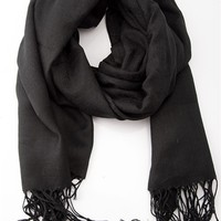 Passion fo Possibilities Pashmina Scarf - Black