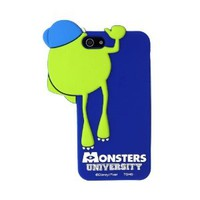 JBG iphone 4/4S Monster University Blue Mike Wazowski Hide And Seek Style Silicone Soft Case Cover for Apple iPhone 4 4G 4S