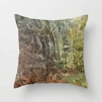 wonderland Throw Pillow by rysunki-malunki