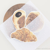 pastries message cards (pack of 3) - shop - upon a fold