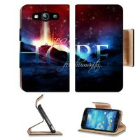 Jesus Hope For Humanity Samsung Galaxy S3 I9300 Flip Cover Case with Card Holder Customized Made to Order Support Ready Premium Deluxe Pu Leather 5 inch (132mm) x 2 11/16 inch (68mm) x 9/16 inch (14mm) MSD S III S 3 Professional Cases Accessories Open Came
