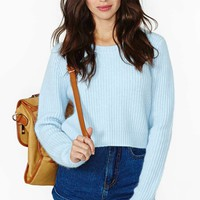 Clear Skies Crop Sweater