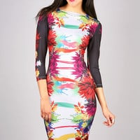 Mirrored Tropics Dress