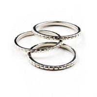 Etched Midi Rings