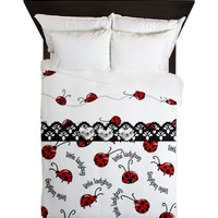 Perfect Little Ladybugs Queen Duvet