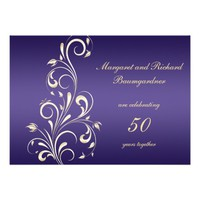 Gold Purple Swirls 50th Wedding Anniversary