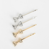 Bow Bobby Pin - Set Of 4 - Urban Outfitters