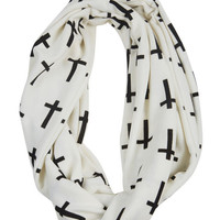 Cross Eternity Scarf | Wet Seal