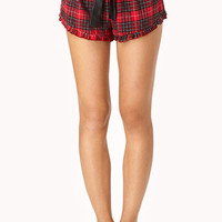 Cozy Flannel PJ Shorts