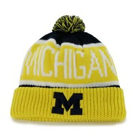 NCAA Michigan Wolverines Calgary Knit Cuff Cap, One-Size, Navy