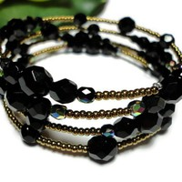 Bracelet Jewelry Fashion Memory Wrapped Black Bronze Handmade