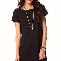 Essential Buttoned Shift Dress