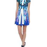 Peter Pilotto Printed Double-Layer Dress