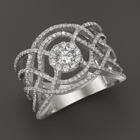 Diamond Band in 14K White Gold, .90 ct. t.w.